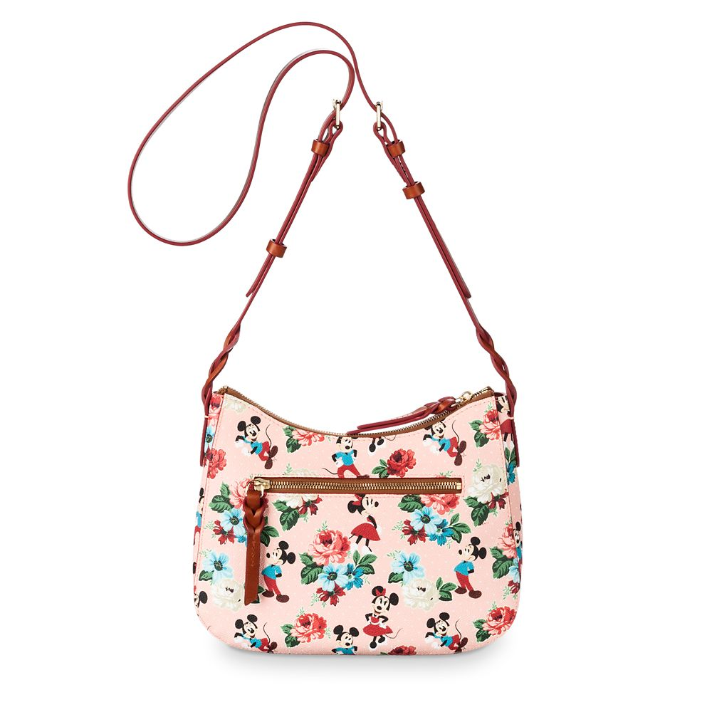 Mickey and Minnie Mouse Floral Crossbody Bag by Dooney & Bourke