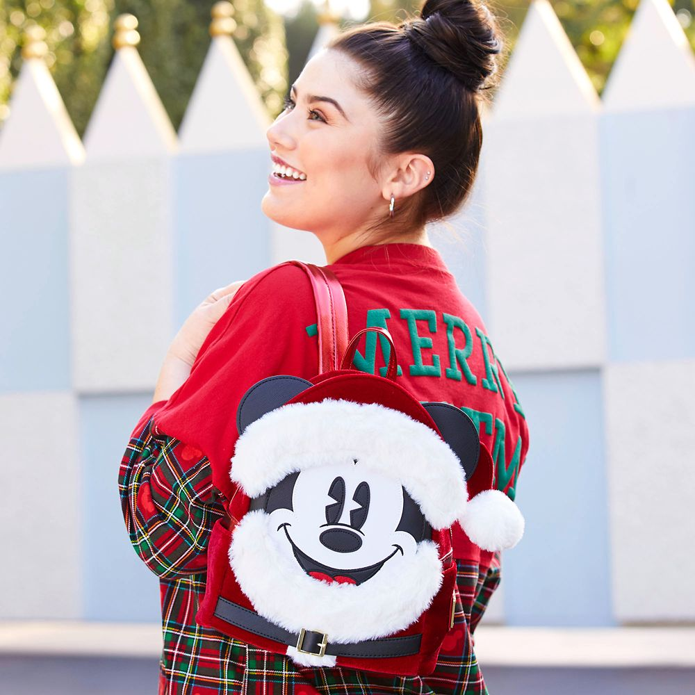 Santa Mickey Mouse Mini Backpack by Loungefly