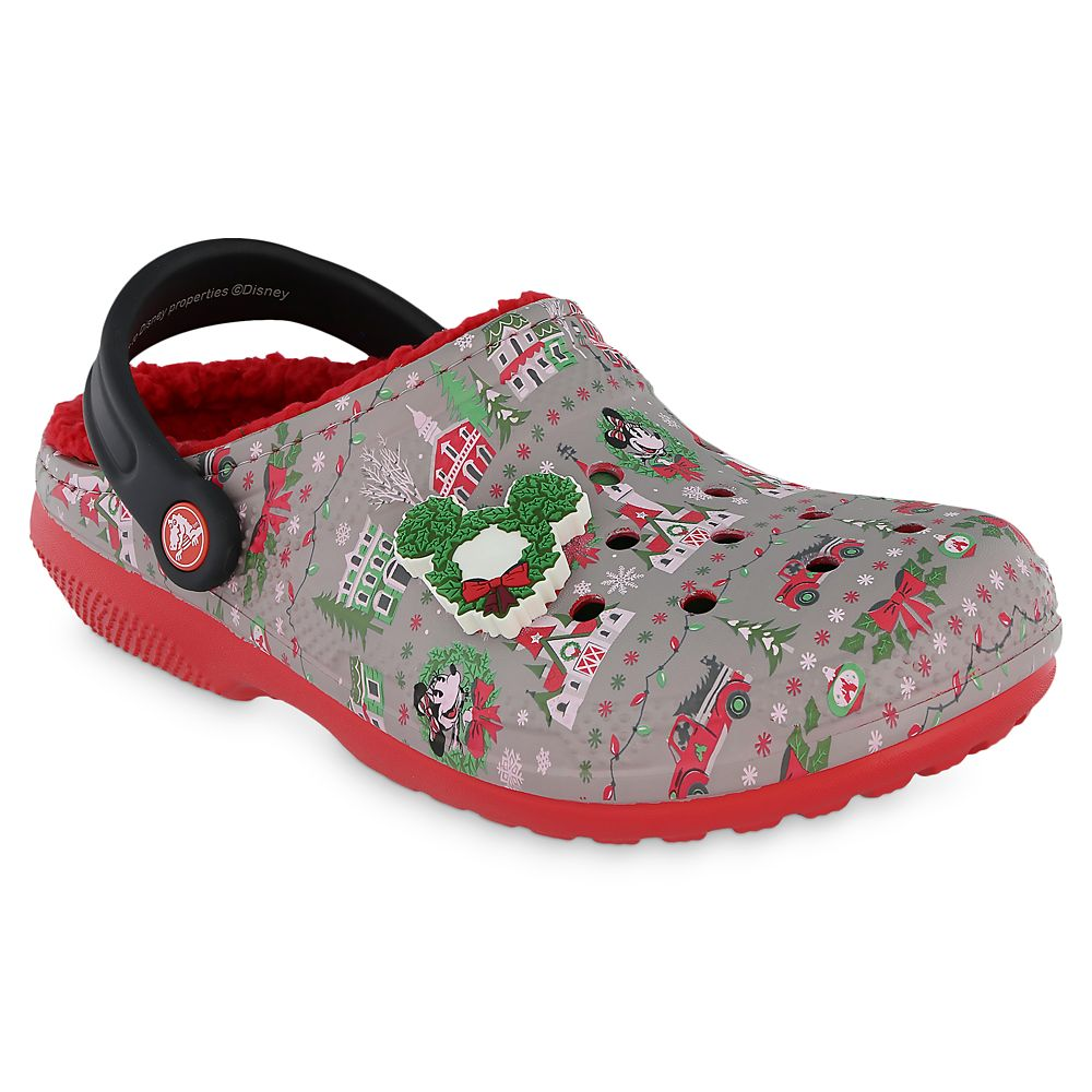 Mickey and Minnie Mouse Holiday Clogs for Adults by Crocs