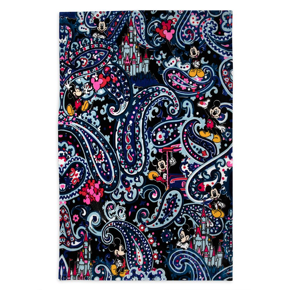 Mickey Mouse Whimsical Paisley Throw Blanket by Vera Bradley