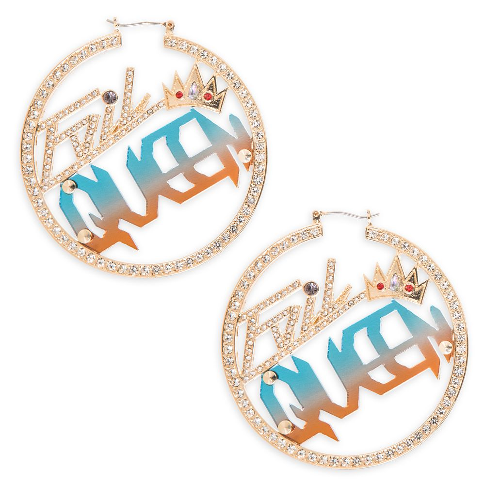 Evil Queen Hoop Earrings by Betsey Johnson