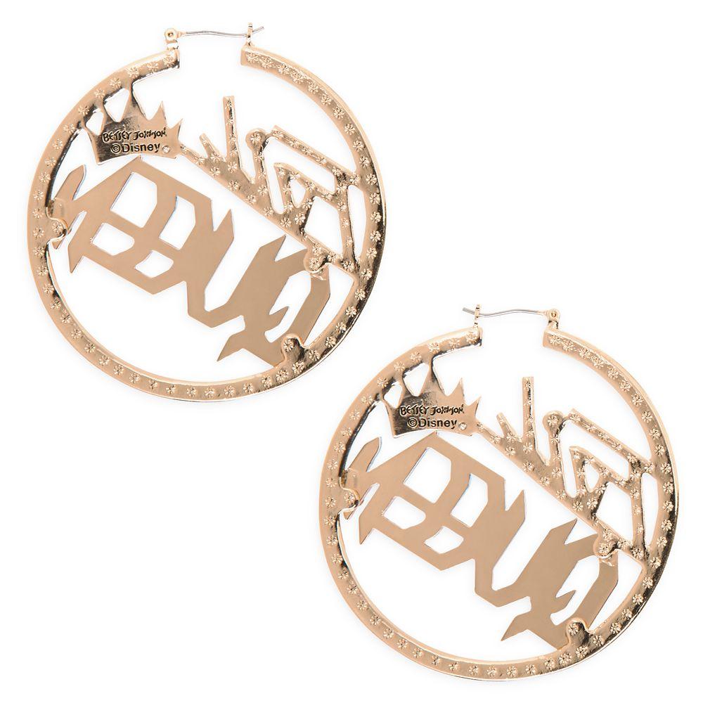 Evil Queen Hoop Earrings by Betsey Johnson