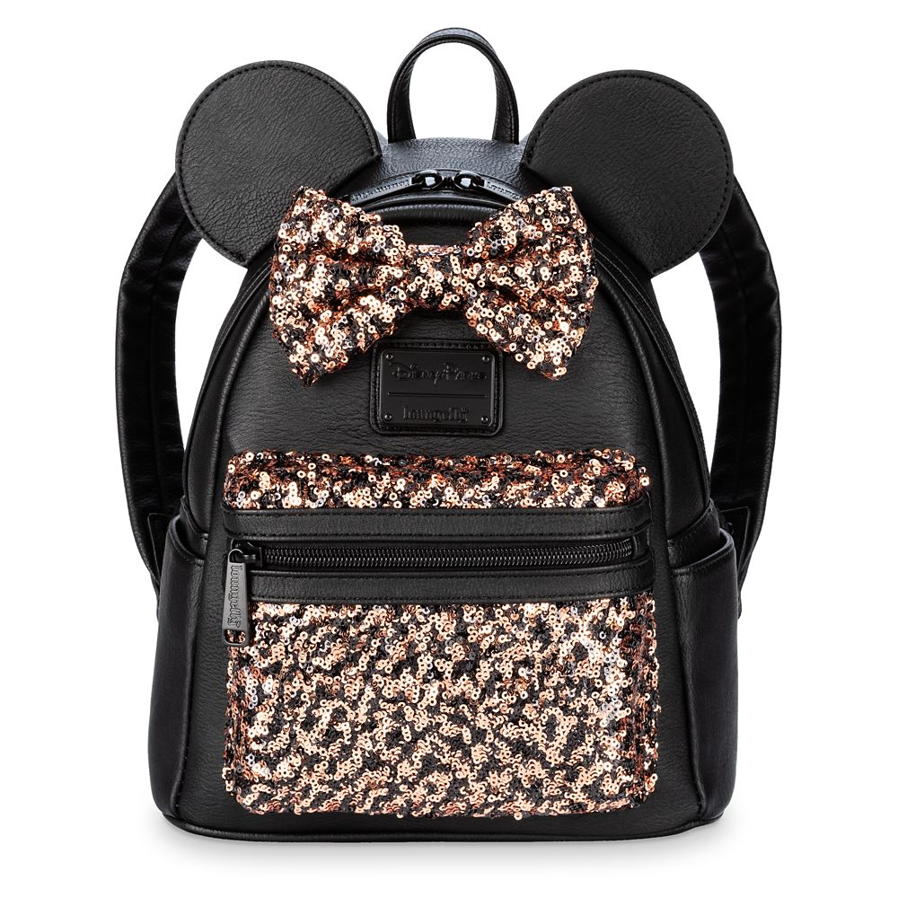 Minnie Mouse Sequined Mini Backpack by Loungefly – Belle Bronze