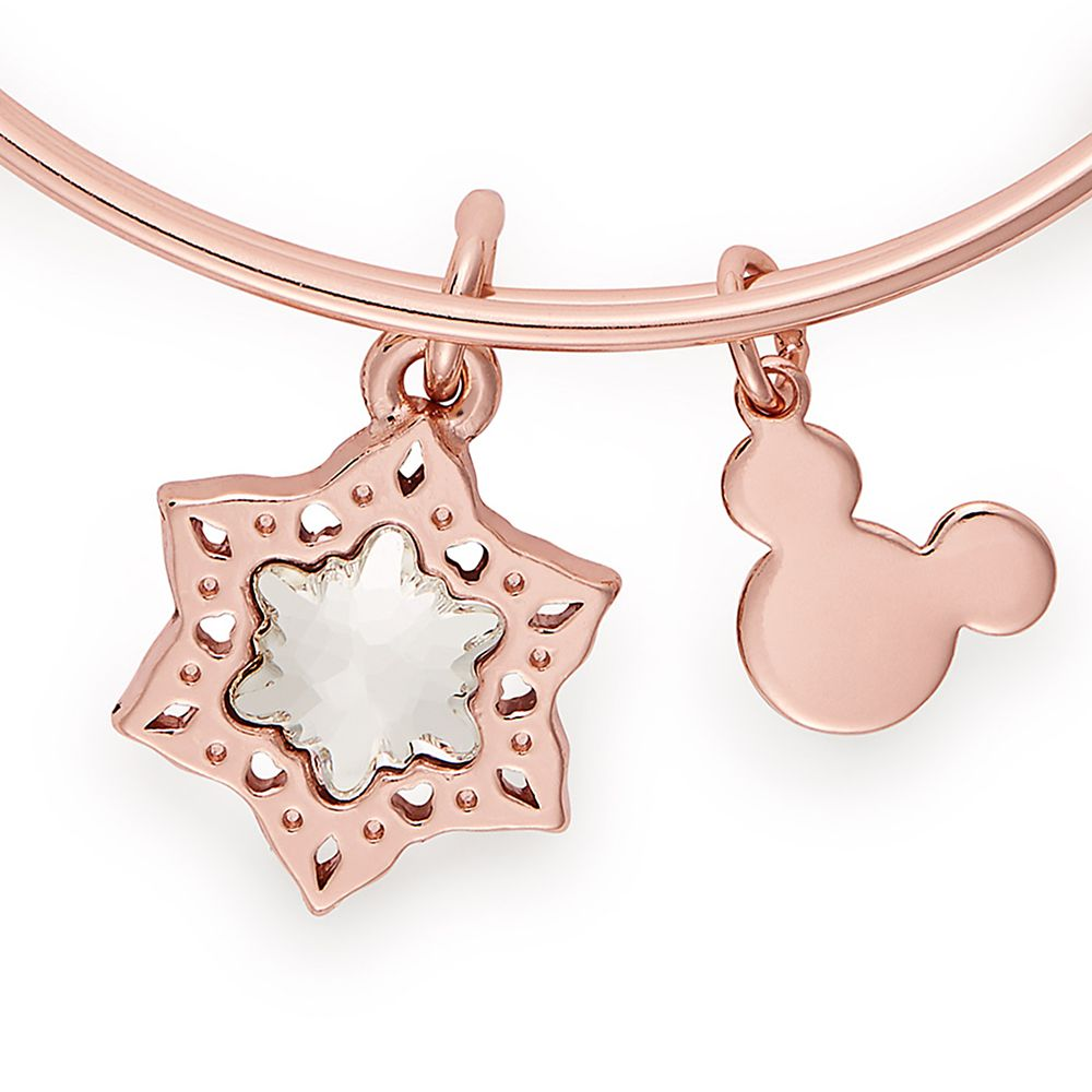 Mickey Mouse Icon Snowflake Bangle by Alex and Ani