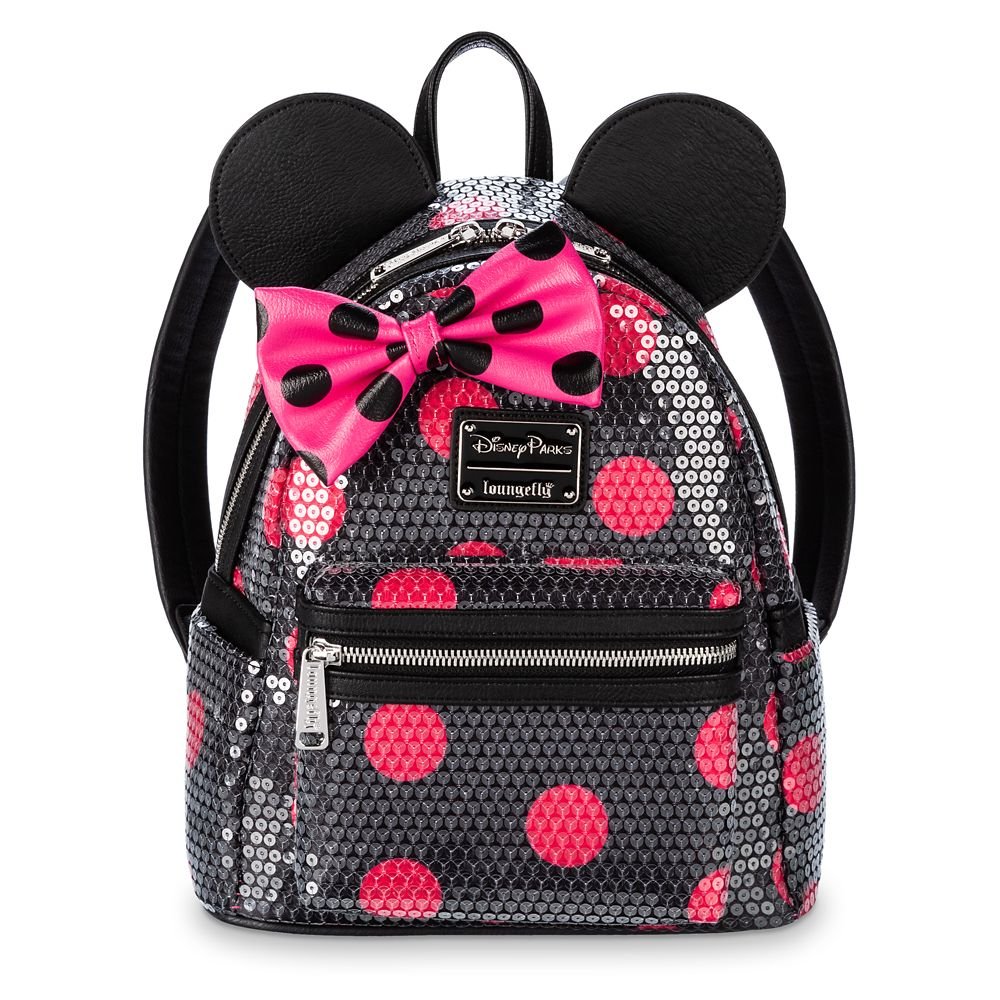 Minnie Mouse Sequined Polka Dot Mini Backpack by Loungefly