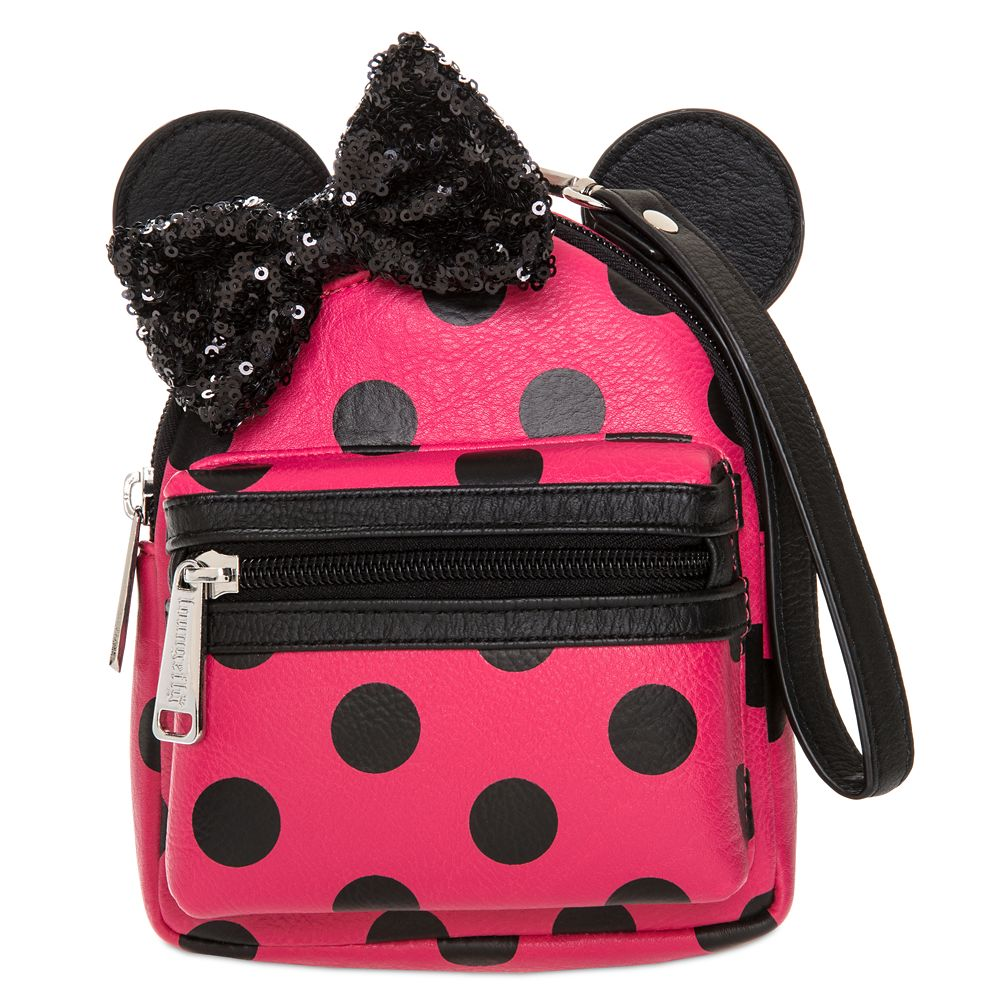 Minnie Mouse Polka Dot Mini Backpack Wristlet by Loungefly