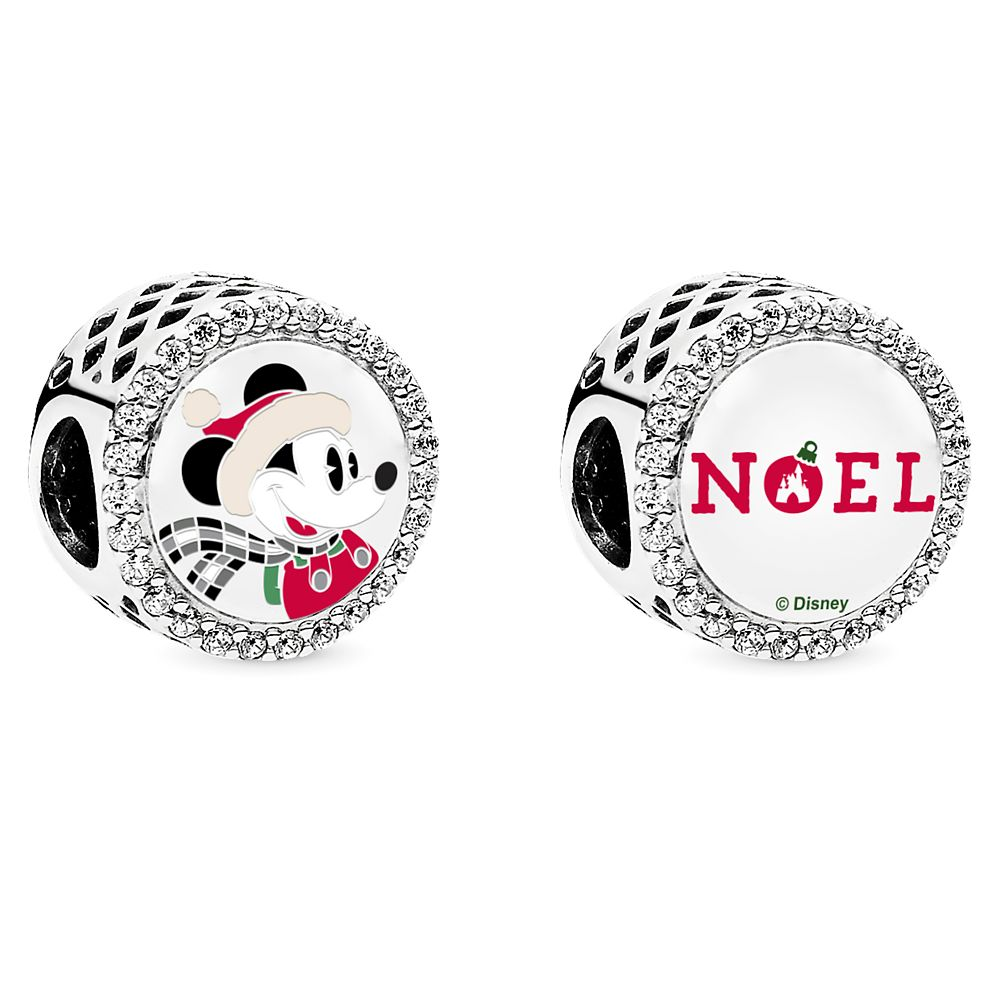 Mickey and Minnie Mouse Disney Parks Holiday Charm Set by Pandora Jewelry