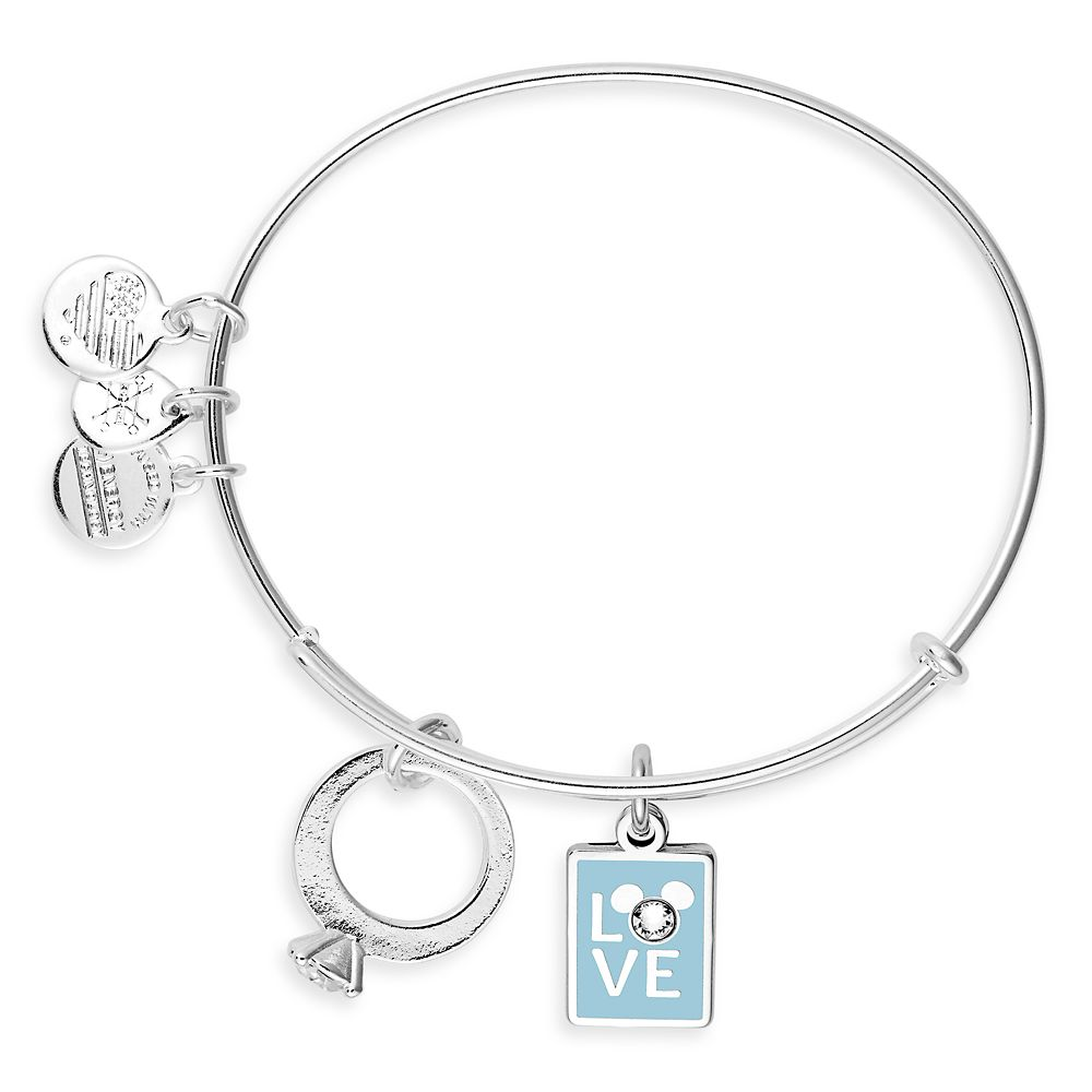 Mickey Mouse ''Love'' and Ring Bangle By Alex and Ani