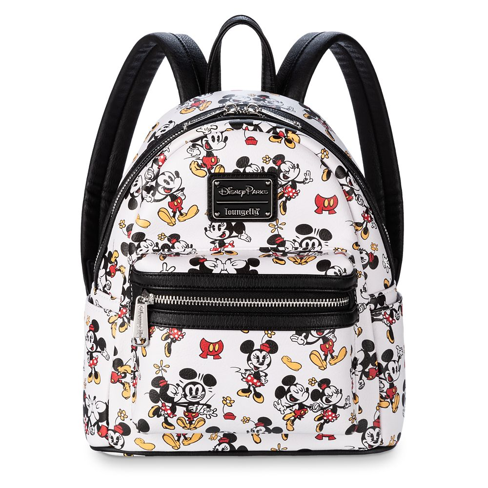 Mickey and Minnie Mouse Mini Backpack by Loungefly