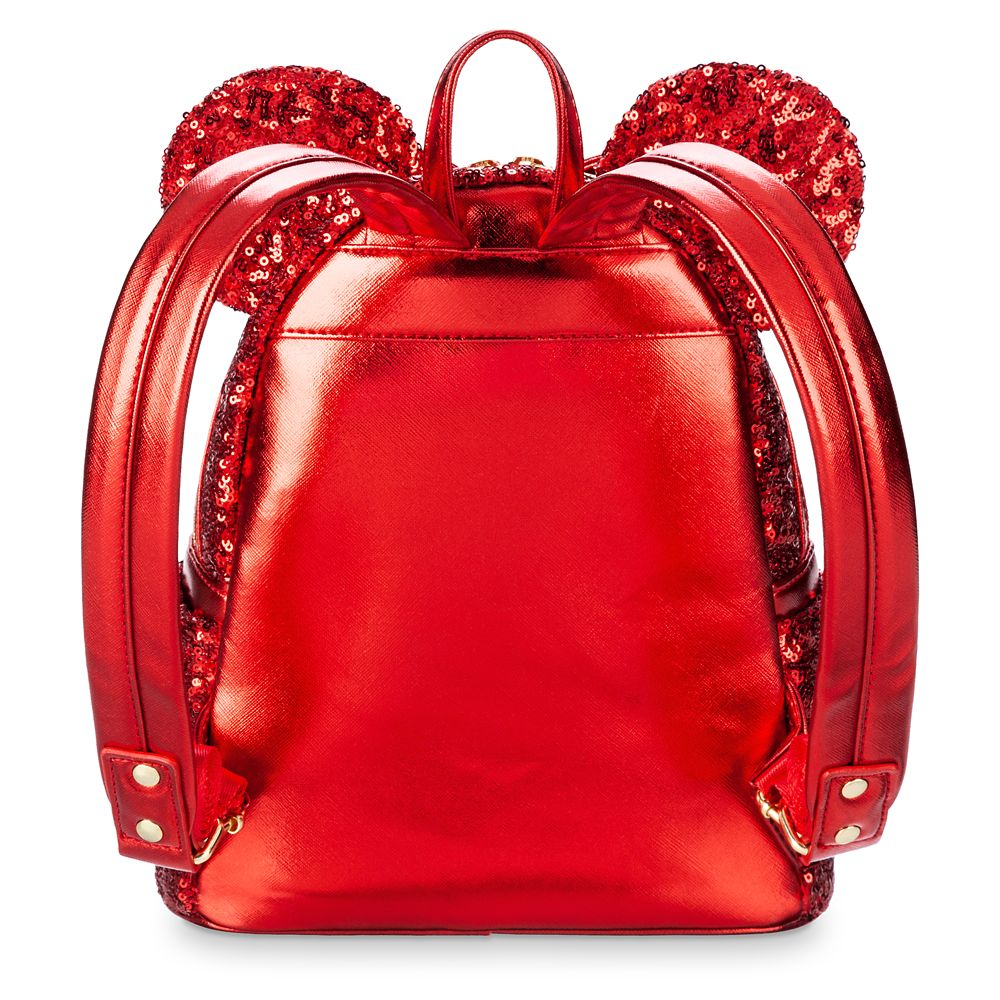 Minnie Mouse Sequined Mini Backpack by Loungefly – Red