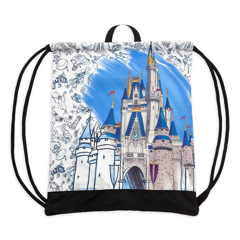 Cinderella Castle Cinch Sack – Disney Ink & Paint – Walt Disney World