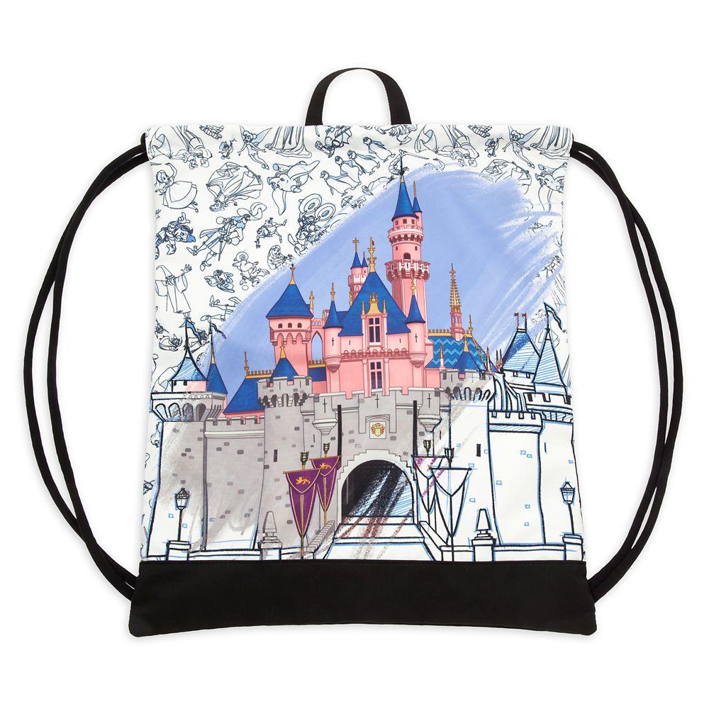 Sleeping Beauty Castle Cinch Sack – Disney Ink & Paint – Disneyland