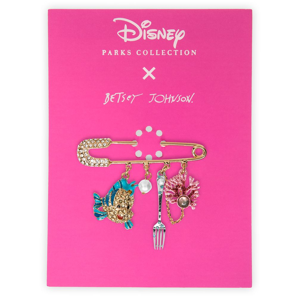 The Little Mermaid Dangle Pin by Betsey Johnson