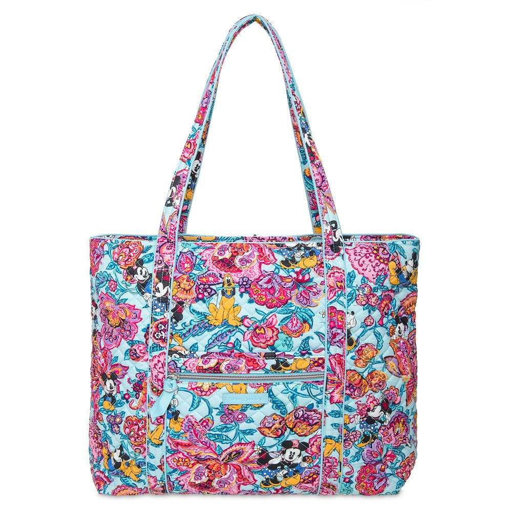 Mickey Mouse and Friends Colorful Garden Iconic Vera Tote by Vera Bradley