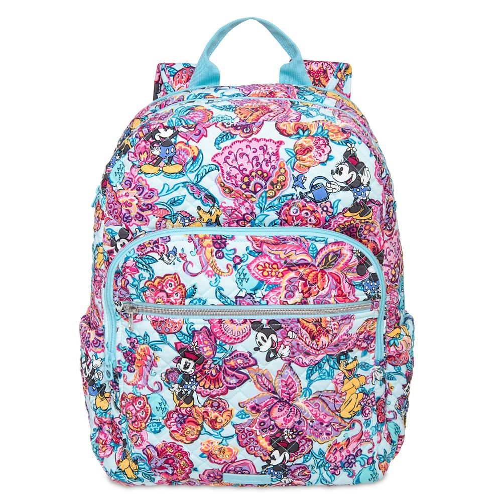 Mickey Mouse and Friends Colorful Garden Iconic Campus Backpack by Vera Bradley Official shopDisney