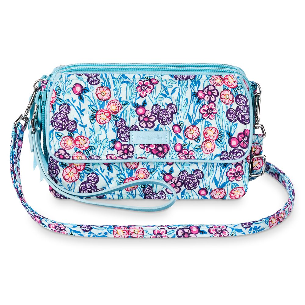 Mickey Mouse Colorful Garden All in One Crossbody and Wristlet by Vera Bradley
