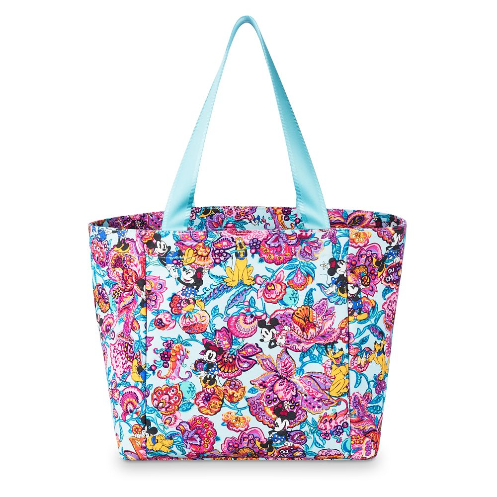 Mickey Mouse and Friends Colorful Garden Drawstring Tote by Vera Bradley