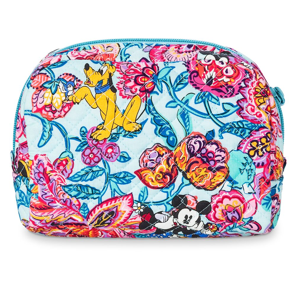 Mickey Mouse and Friends Colorful Garden Cosmetic Bag by Vera Bradley