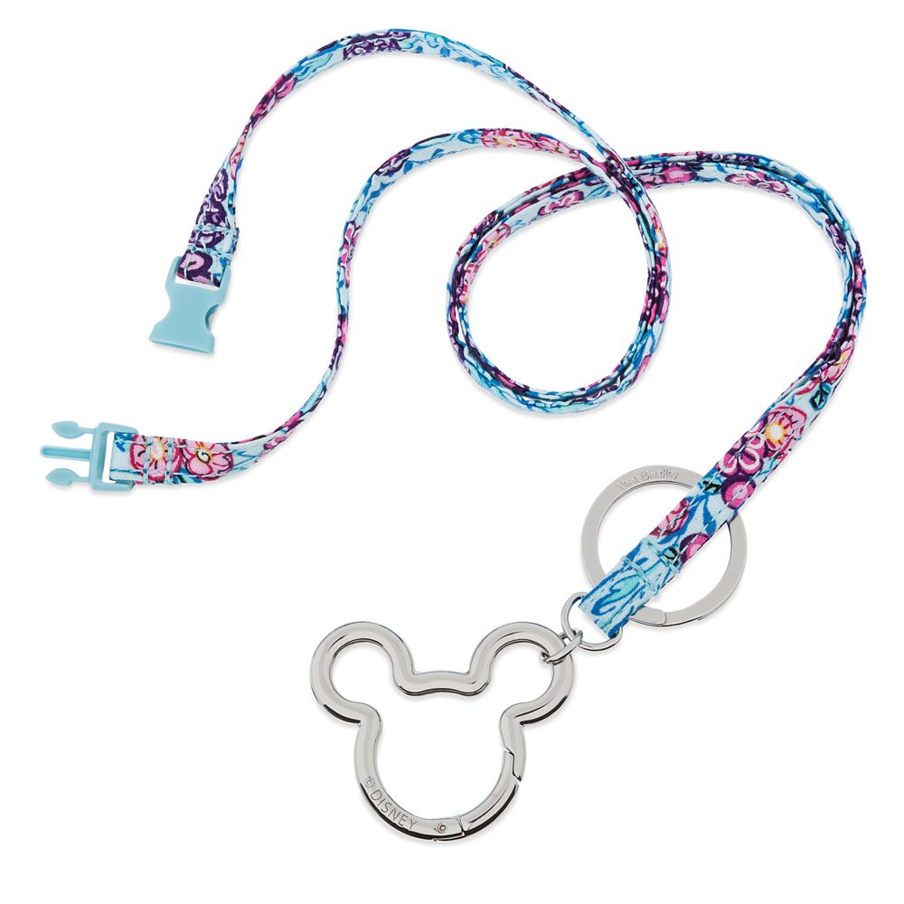 Mickey Mouse Colorful Garden Lanyard by Vera Bradley