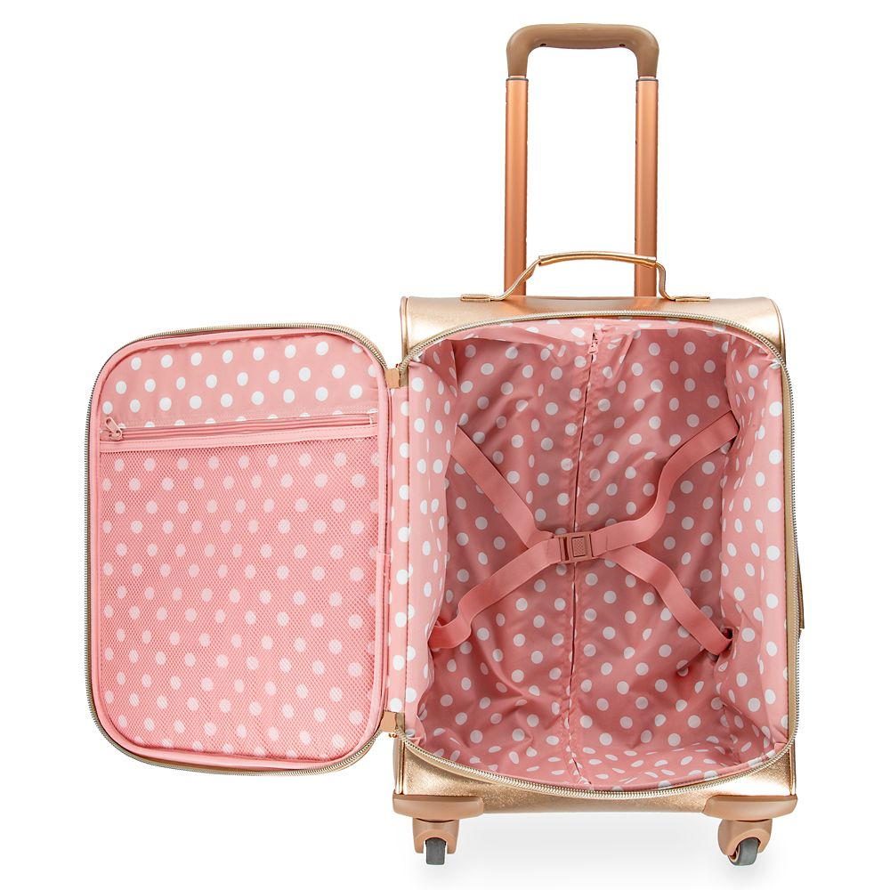 Minnie Mouse Rolling Luggage by Loungefly – Briar Rose Gold