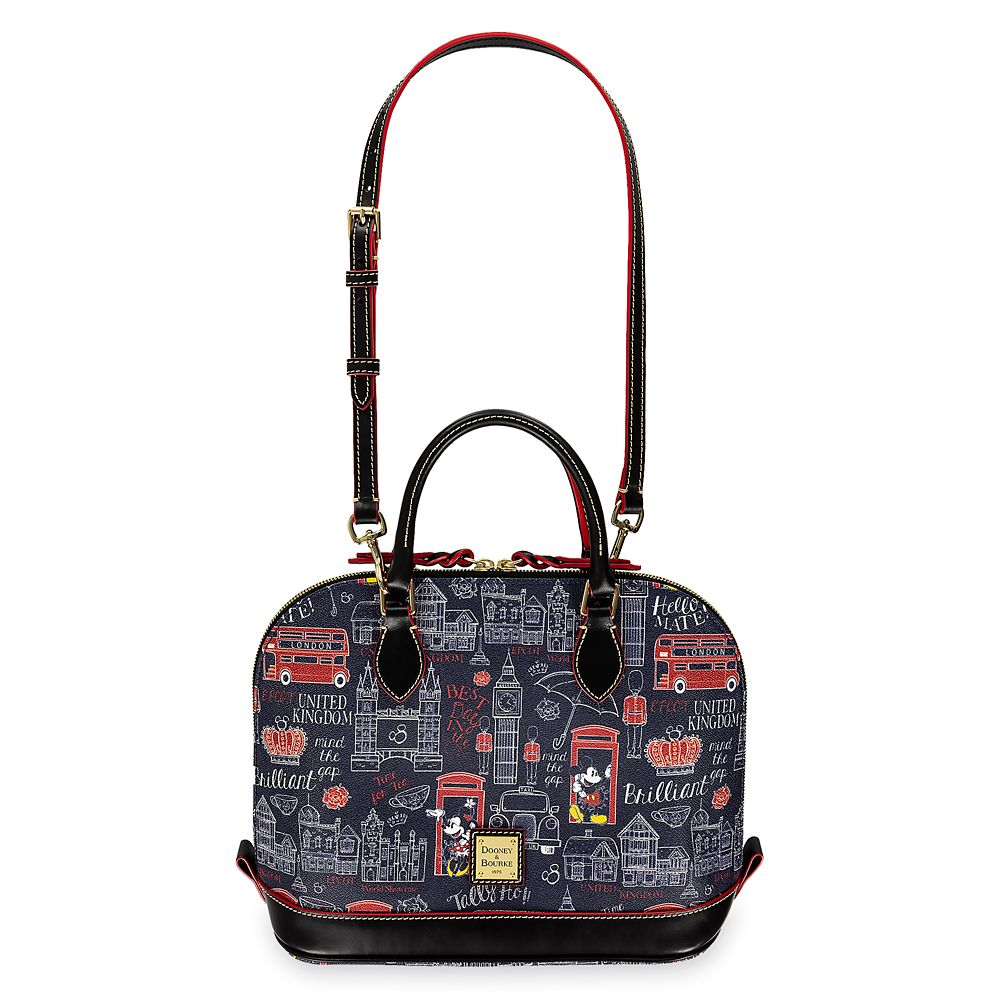 Mickey and Minnie Mouse Hello Mate Zip Satchel by Dooney & Bourke