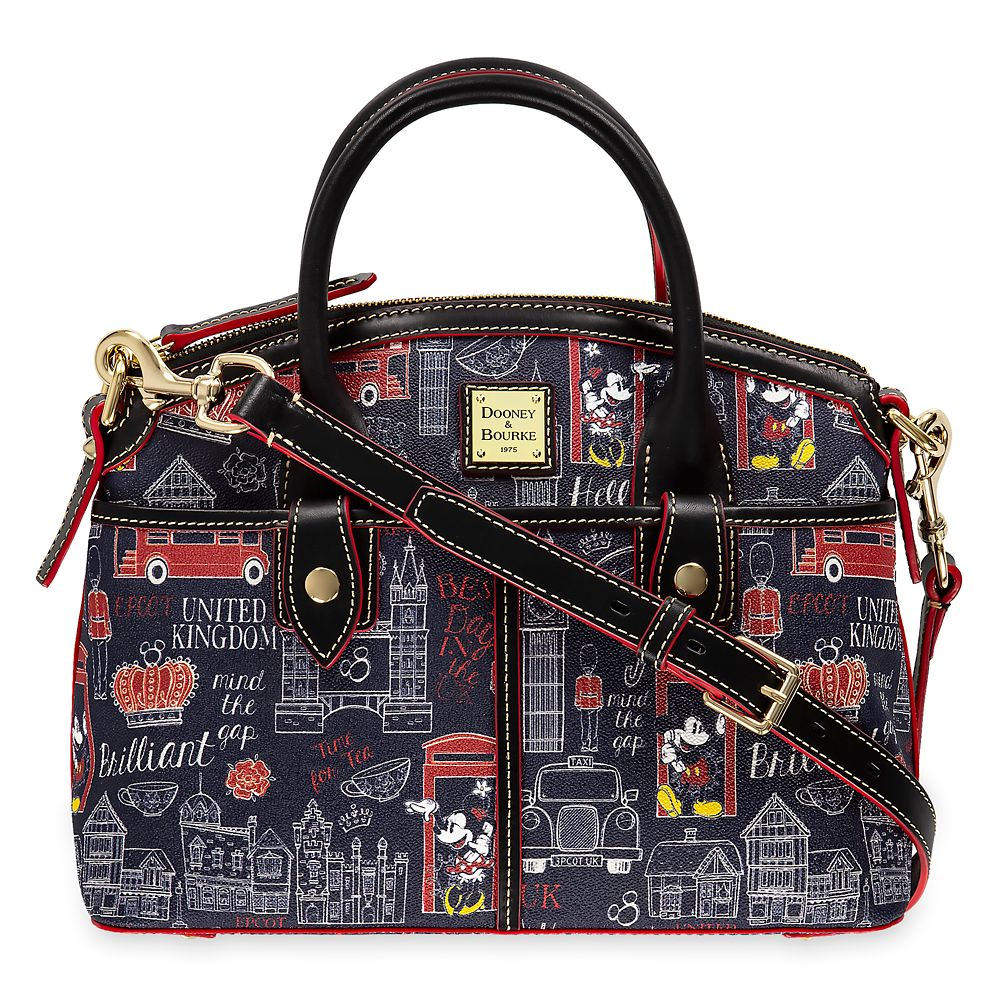 Mickey and Minnie Mouse Hello Mate Satchel by Dooney & Bourke