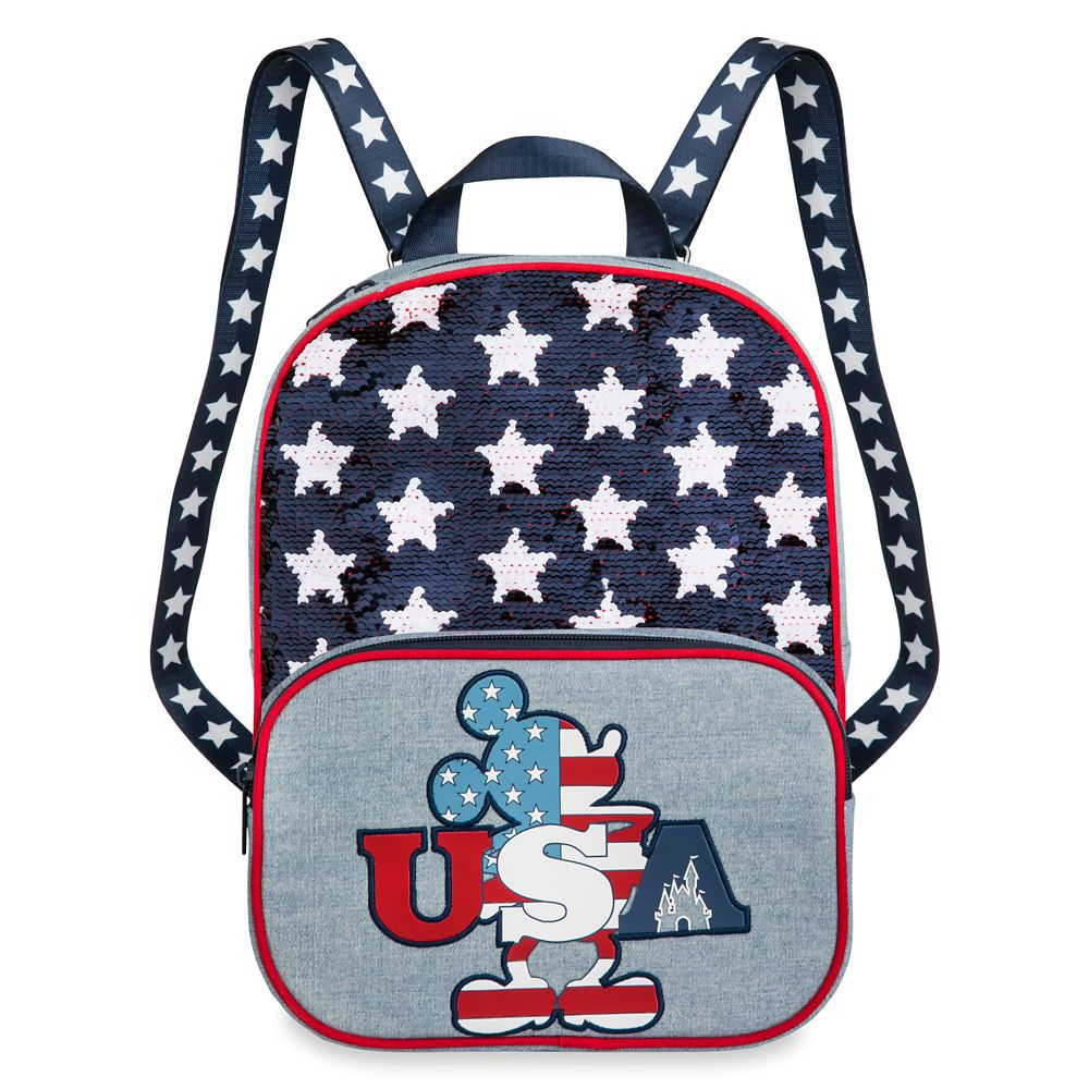 Mickey Mouse Americana Reversible Sequin Backpack