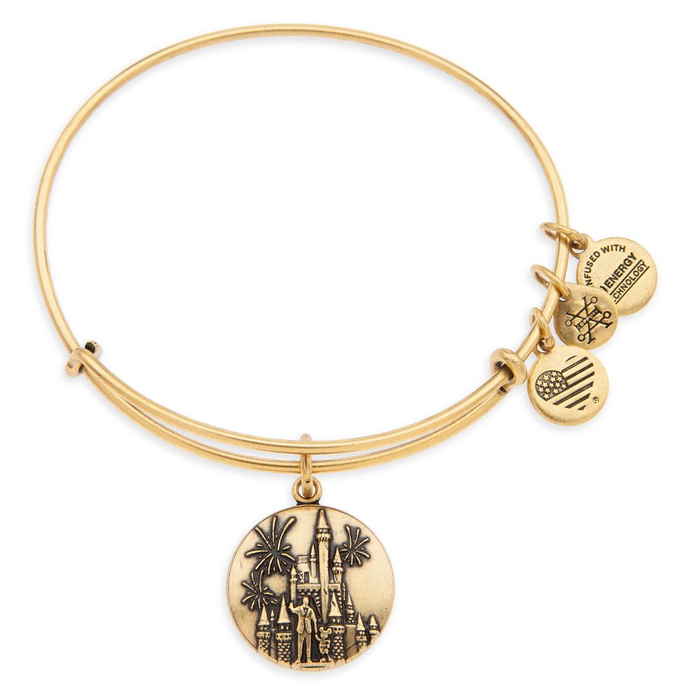 Cinderella Castle with Walt Disney and Mickey Mouse ''Partners'' Bangle by Alex and Ani – Walt Disney World – Gold