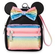 Minnie Mouse Sequined Mini Backpack Wristlet by Loungefly – Pastel Rainbow