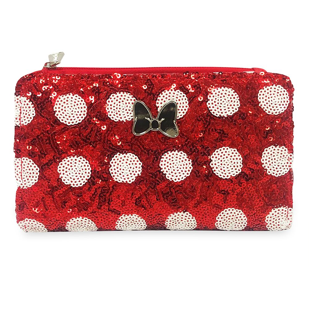 Minnie Mouse Bow Sequin Wallet by Loungefly
