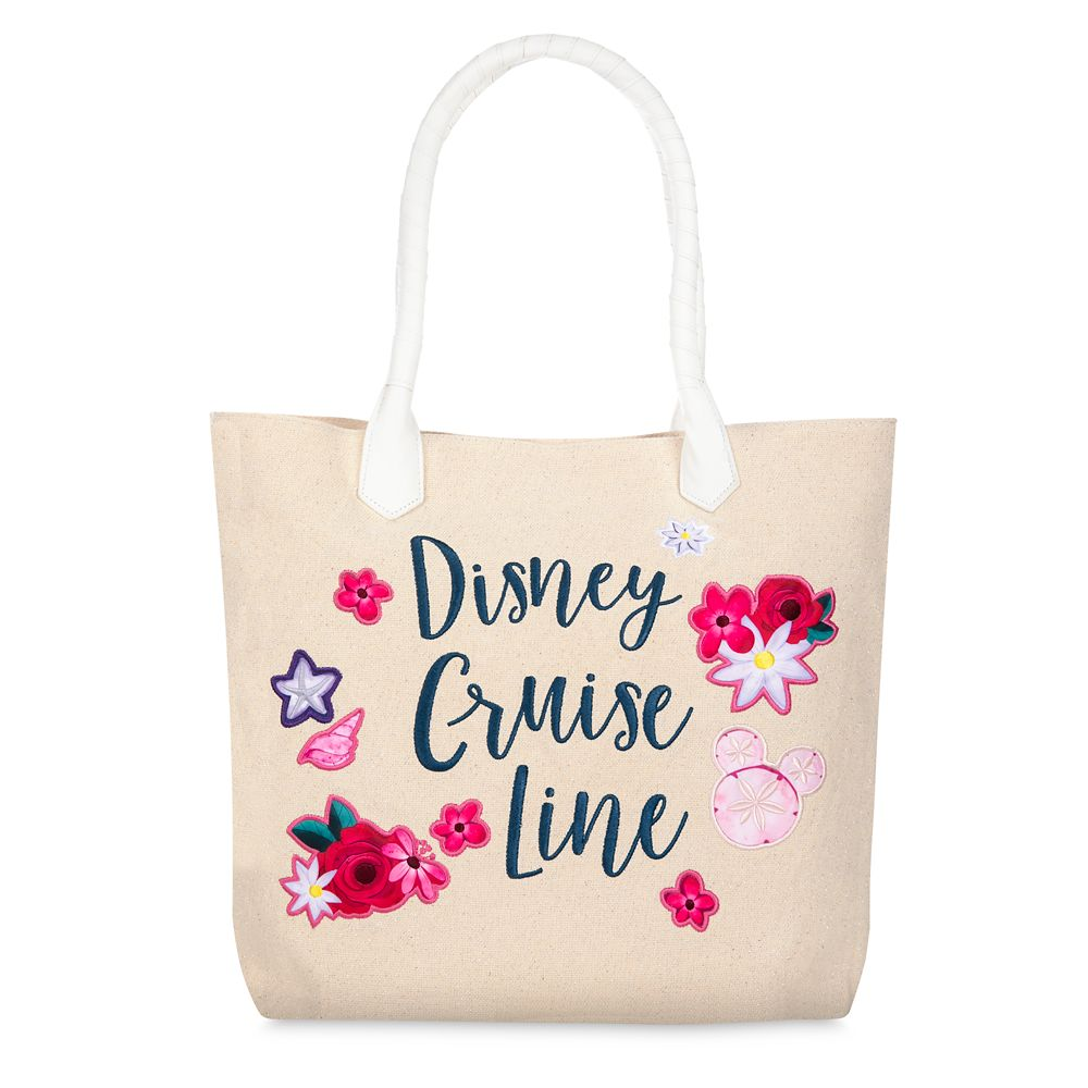 Disney Cruise Line Glittering Canvas Tote Bag