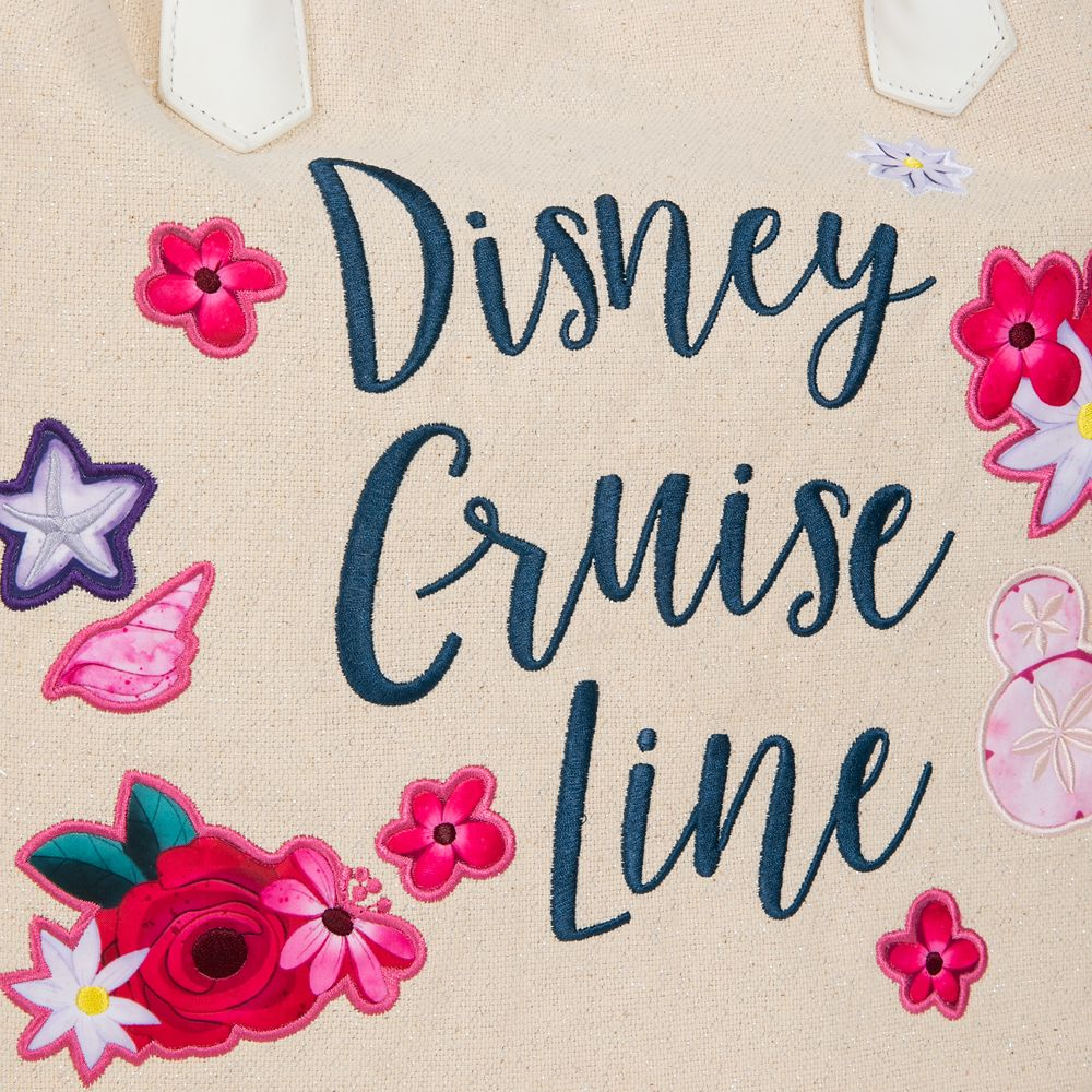 Disney Cruise Line Glittering Canvas Tote Bag