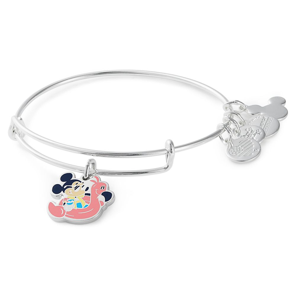 Mickey Mouse with Pink Flamingo Bangle by Alex and Ani