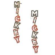 Mickey Mouse Lettering Earrings by BaubleBar