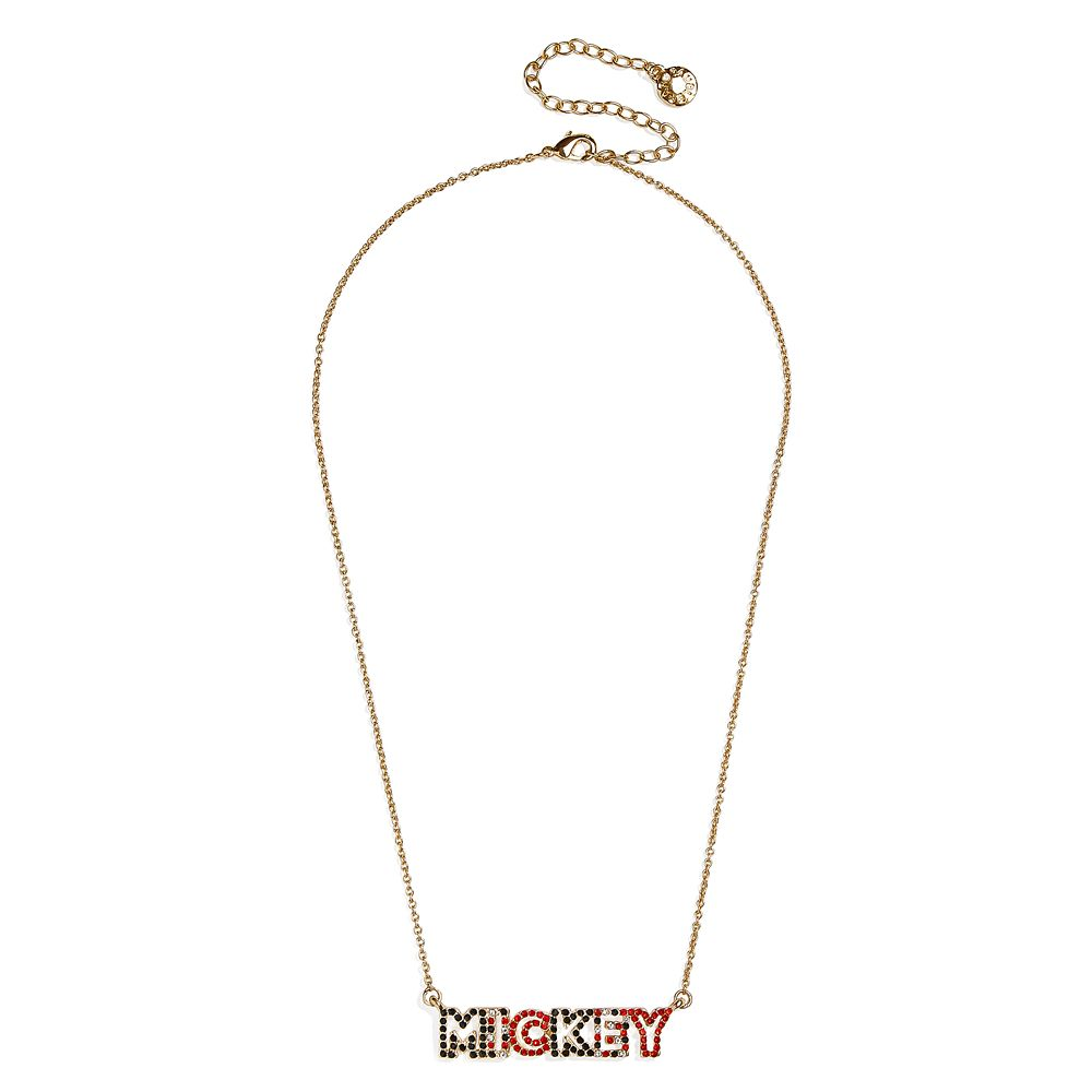 Mickey Mouse Lettering Necklace by BaubleBar