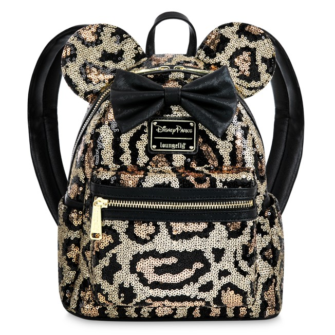 Minnie Mouse Sequined Animal Print Loungefly Mini Backpack