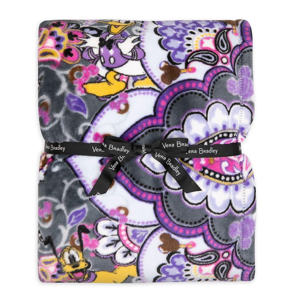 Mickey Mouse Sweet Treats Plush Throw Blanket by Vera Bradley