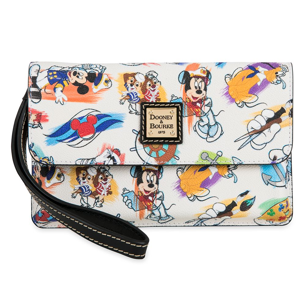 Captain Mickey Mouse & Friends Disney Ink & Paint Wristlet by Dooney & Bourke – Disney Cruise Line