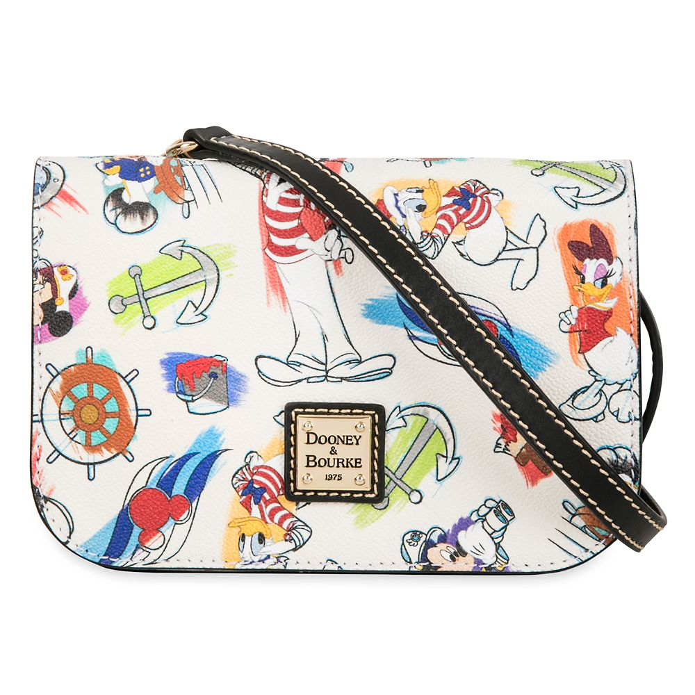 shopdisney.com - Captain Mickey Mouse & Friends Disney Ink & Paint Crossbody Bag by Dooney & Bourke  Disney Cruise Line 198.00 USD