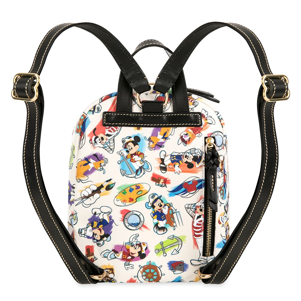 Captain Mickey Mouse & Friends Disney Ink & Paint Mini Backpack by Dooney & Bourke – Disney Cruise Line