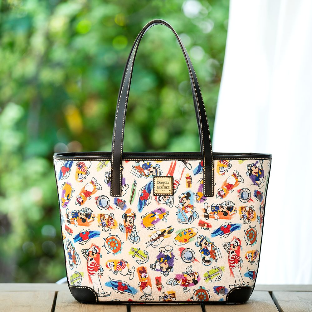 Captain Mickey Mouse & Friends Disney Ink & Paint Tote by Dooney & Bourke – Disney Cruise Line