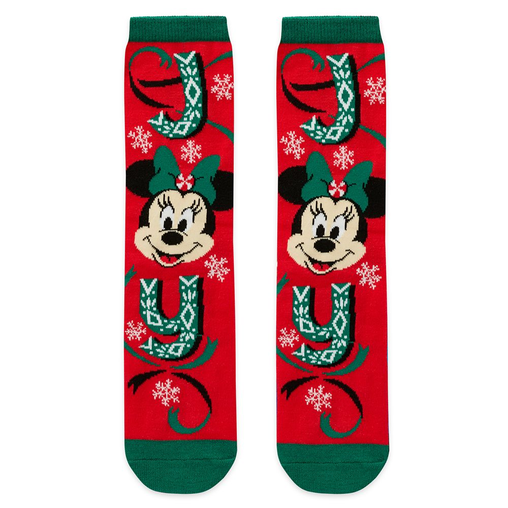 Minnie Mouse Holiday Socks for Adults