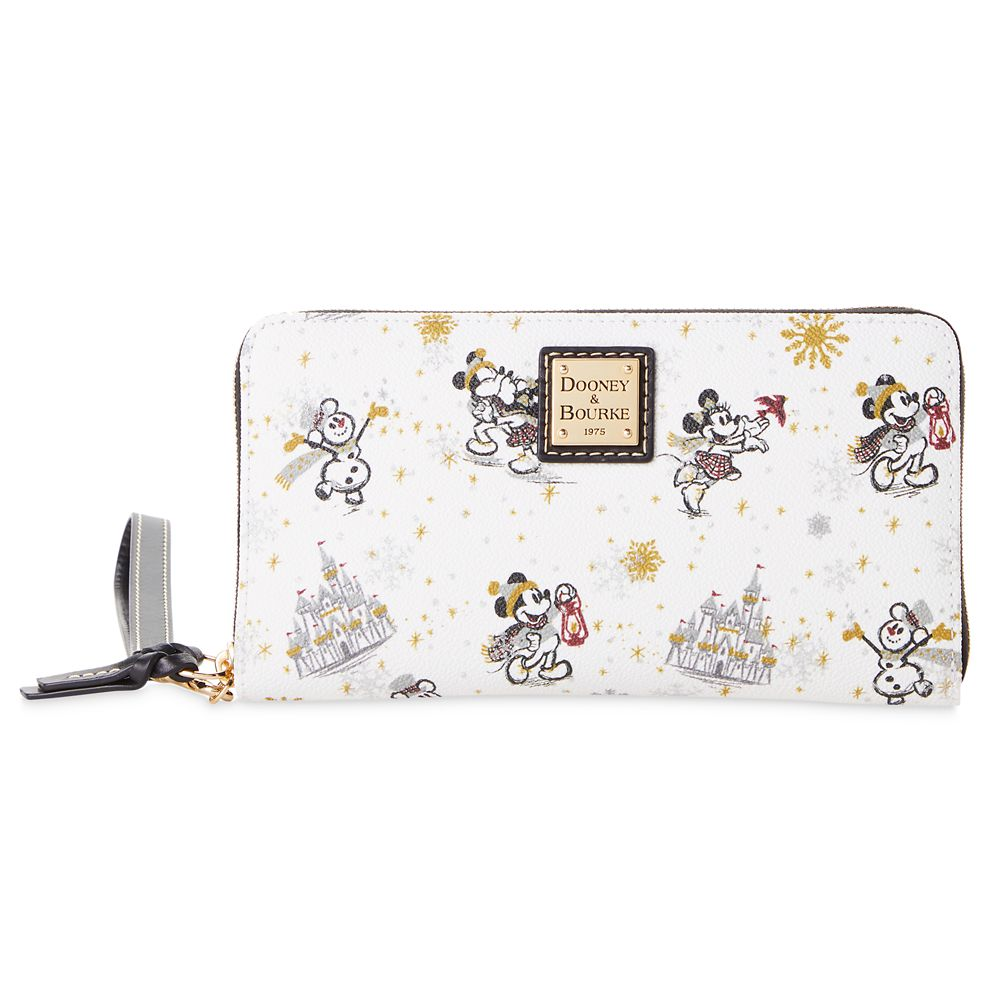 Mickey and Minnie Mouse Holiday Dooney & Bourke Wristlet Wallet