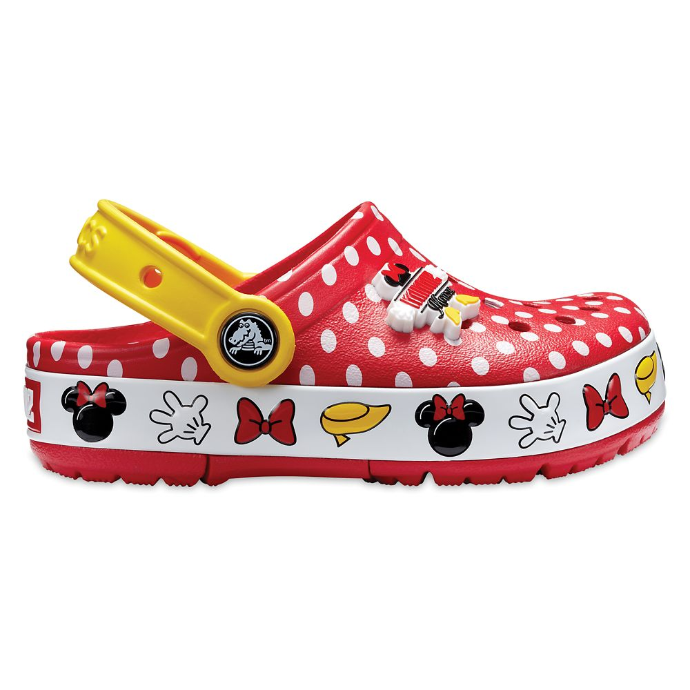 Minnie Mouse Polka Dot Clogs for Kids by Crocs