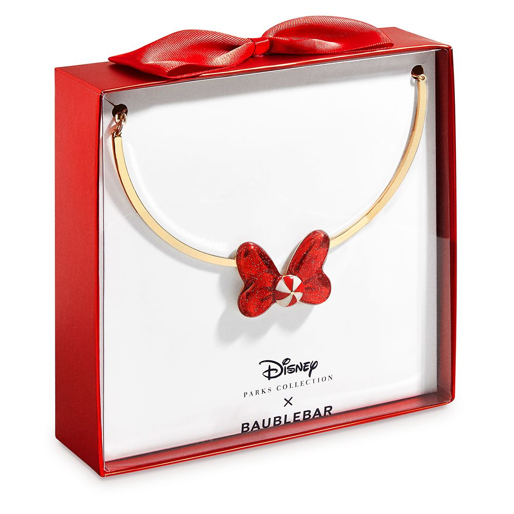 Minnie Mouse Holiday Bow Necklace by BaubleBar