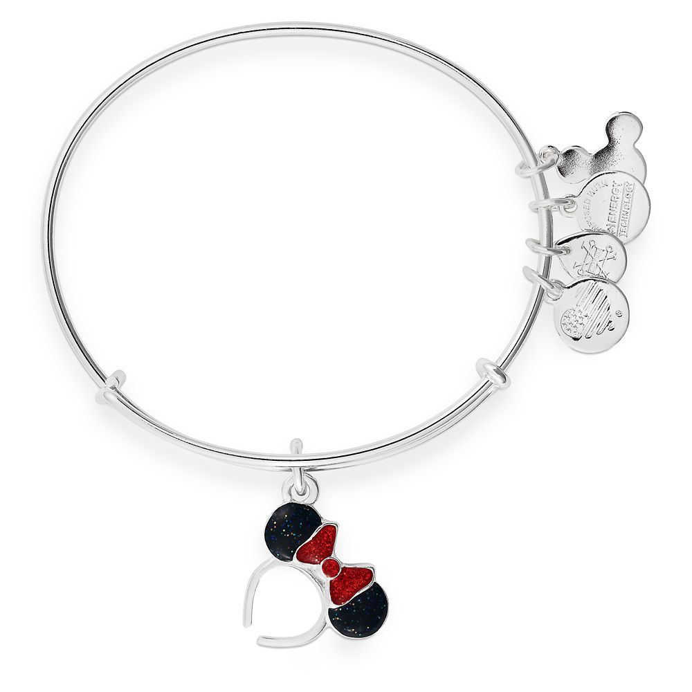 Minnie Mouse Ear Headband Bangle by Alex and Ani – Red and Black