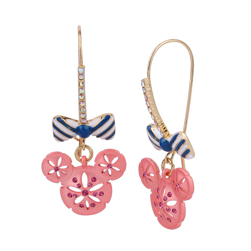 Minnie Mouse Sand Dollar Earrings by Betsey Johnson