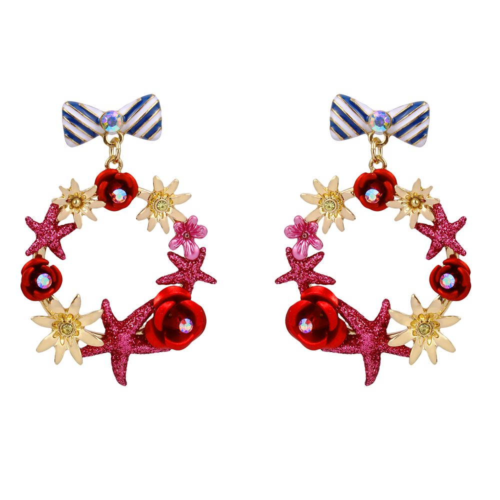 Minnie Mouse Bow and Wreath Earrings by Betsey Johnson
