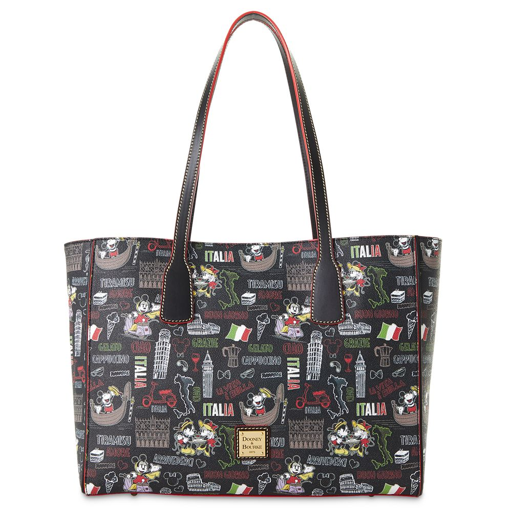 "shopdisney.com - Mickey and Minnie Mouse ""Italia"" Dooney & Bourke Tote Bag Official shopDisney 268.00 USD"