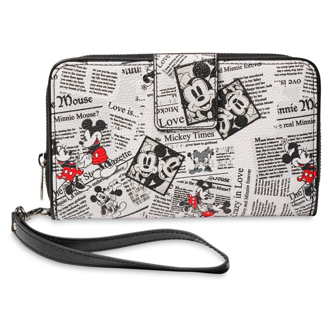 Mickey and Minnie Mouse Newsprint Wallet